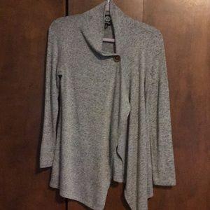Heathe gray sweater jacket